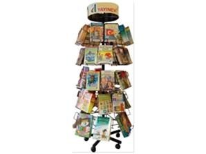 REVOLVING BOOK DISPLAY STAND